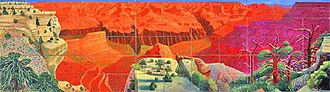 1998 in art - Image: Hockney, A Bigger Grand Canyon