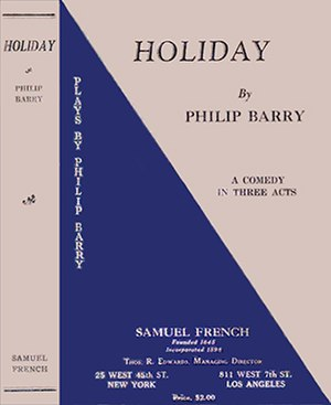 Holiday (play) - First edition 1929