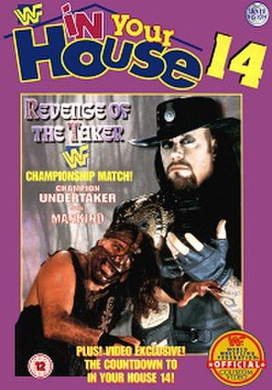 In Your House 14: Revenge of the 'Taker - UK VHS cover featuring Mankind and The Undertaker