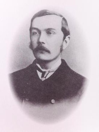 The Narrative of John Smith - A photograph of Arthur Conan Doyle in The Narrative of John Smith.
