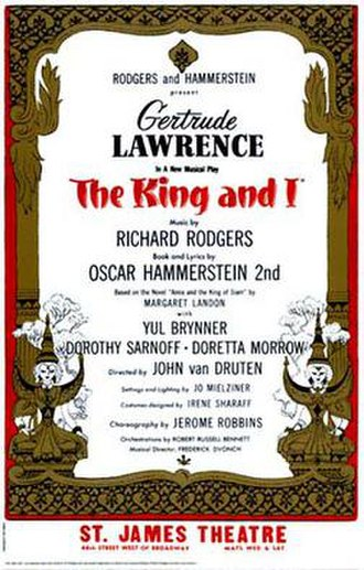 The King and I - Original Broadway poster (1951)