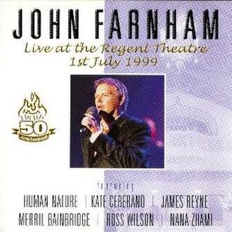 Live at the Regent Theatre – 1st July 1999 - Image: Live At The Regent Theatre 1st July 1999
