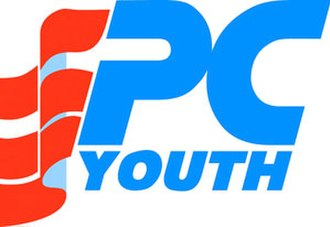 Progressive Conservative Youth Federation - Circa 1984. Merger of 'Youth' with PC logo