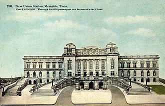 Memphis Union Station - Memphis Union Station postcard issued soon after the station opened in April 1912.