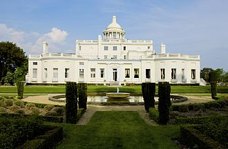 Stoke Park, Buckinghamshire - The Mansion and West facing Gardens