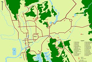 Mrauk U - Image: Map of Mrauk U