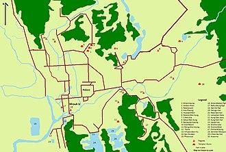 Mrauk U - Image: Map of Mrauk U