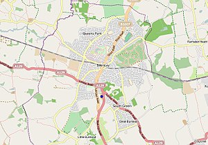 The Billericay School - The Billericay School, highlighted here by the blue dot, is situated in the south of Billericay surrounded by the A176 and B1007 roads.