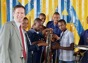 Mark Andrew Green - Green visiting Tumaini Orphan Vocational Training Center in Arusha on November 16, 2007 where a Peace Corps volunteer is teaching life skills to students