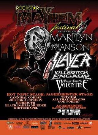 Mayhem Festival 2009 - Promotional poster