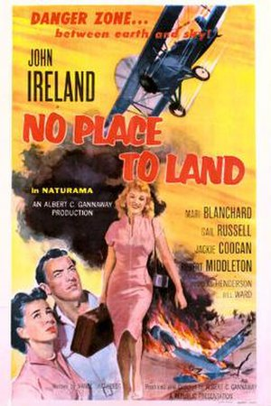 No Place to Land (film) - Theatrical release poster