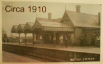Nocton and Dunston railway station - Image: Nocton Dunston Railway Station 1910 2