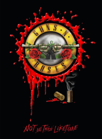 Not in This Lifetime... Tour - The front of the band's tour program featuring the classic bullet style logo.