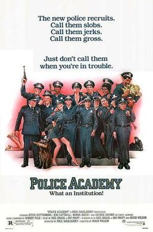 Police Academy (film) - Theatrical release poster by Drew Struzan