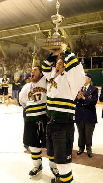 ANAVET Cup - Portage Terriers hoist Anavet Cup (2005)