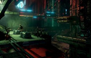 Prey 2 - A screenshot from Prey 2 during its development, ca. August 2011, demonstrating the alien open world setting