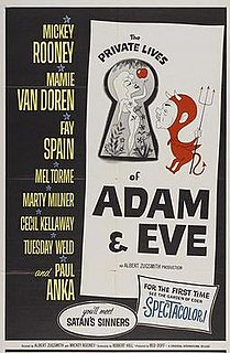 <i>The Private Lives of Adam and Eve</i> 1960 film by Albert Zugsmith, Mickey Rooney