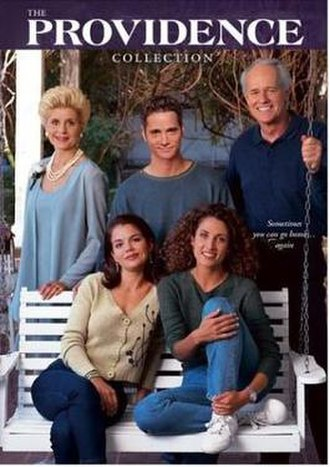 Providence (U.S. TV series) - The Providence Collection DVD box set. Clockwise from top left: Tomei, Peterson, Farrell, Kanakaredes, and Cale.