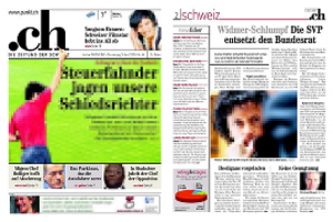 .ch (newspaper) - Image: Punkt.ch Screenshot