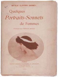 <i>Quelques Portraits-Sonnets de Femmes</i> 1900 poetry chapbook by Natalie Clifford Barney