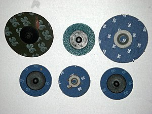Coated abrasive - Examples of a quick change mounting system