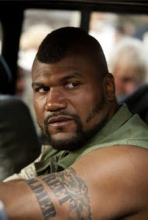 "B. A. Baracus - Quinton ""Rampage"" Jackson as Bosco ""B. A."" Baracus in the 2010 The A-Team film."