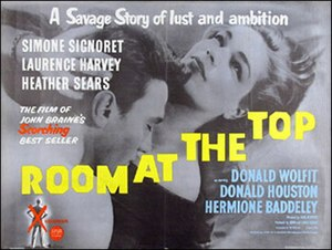 Room at the Top (1959 film) - Original British 1959 quad size film poster