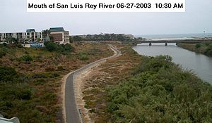 San Luis Rey River - River mouth from North Coast Hwy bridge.