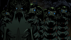 Shalka, with the leader Prime on the left.