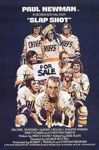 Slap Shot (film) - Theatrical release poster by Craig Nelson