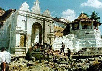 1998 Temple of the Tooth attack - Damage caused to the Temple of the Tooth