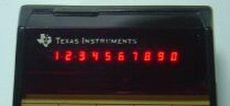 TI-59 / TI-58 - 10-digit LED display