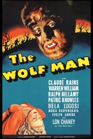 Movie poster for The Wolf Man.