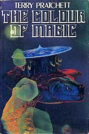 Discworld - Cover of an early edition of The Colour of Magic; art by Josh Kirby