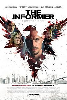 <i>The Informer</i> (2019 film) 2019 British film directed by Andrea Di Stefano