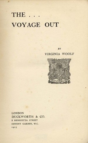 The Voyage Out - Cover of the first edition of 1915.