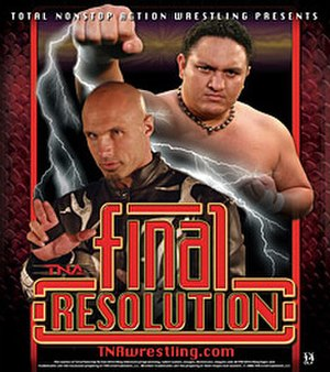 Final Resolution (2006) - Promotional poster featuring Christopher Daniels (left) and Samoa Joe (right)