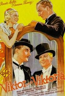 <i>Victor and Victoria</i> 1933 film by Reinhold Schünzel in German