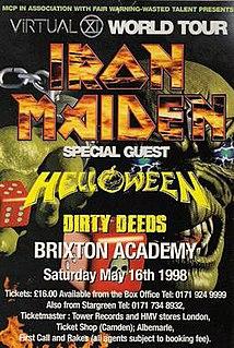 Virtual XI World Tour 1998 concert tour by Iron Maiden