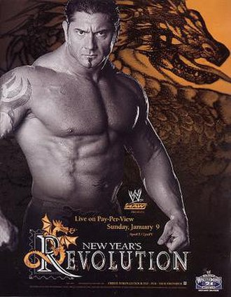 New Year's Revolution (2005) - Promotional poster, showcasing Batista