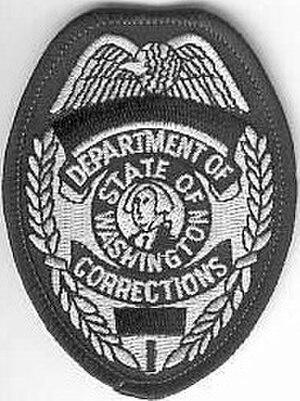 Washington State Department of Corrections - Image: Washington doc badgepatch current