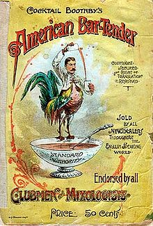 The front cover of Boothby's 1891 book Cocktail Boothby's American Ba...