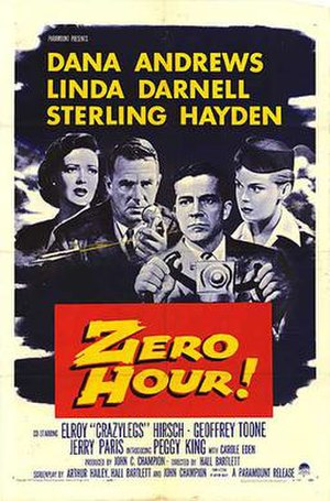 Zero Hour! (1957 film) - Theatrical poster