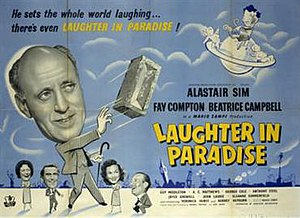 Laughter in Paradise - Theatrical release poster