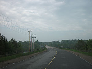 Ontario Highway 148 - Highway 148 ends at the Ottawa River, where it crosses into Quebec
