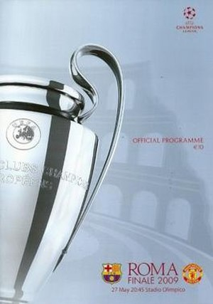 2009 UEFA Champions League Final - Match programme cover