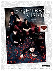 Eighteen Visions poster as a four-piece band