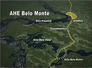 Belo Monte Dam - Overview of the dam complex