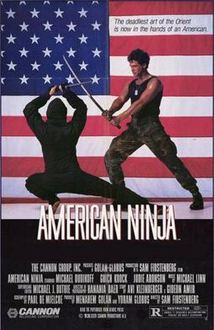 Film poster for American Ninja - Copyright 198...