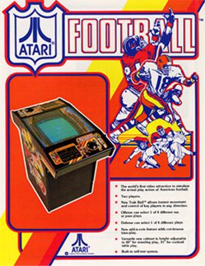 Atari Football - Atari Football arcade flyer.